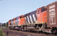 CN CANADIAN NATIONAL Railroad Locomotives Original 1974 Photo Slide