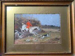 Callander Goldsmith - 19thc -listed Artist -oil Painting -hunting Scene -1892