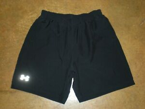 Under Armour Heat Gear Fitted Running Shorts Black Men's Size Large LG