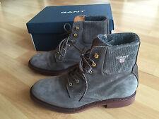 GANT Stiefeletten Stiefel grau Ashley 39 BOOTS wie neu LEDER 160€ braun 40 Boots