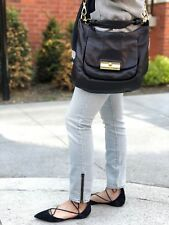 Coach Kristin black leather crossbody handbag