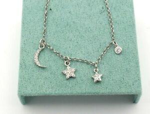Duran exquse Damen Halskette aus 925 Sterlingsilber Mond, Sonne & Stern Anhänger