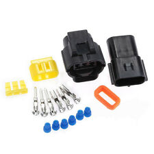 2 Set Car 3 Pin Pa66 Waterproof 20a Electrical Wire Cable Connector Plug