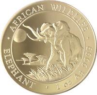 2016 100 Shillings Somalia Elephant Coin - 1oz Silver