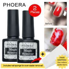 PHOERA Nail Gel Polish Burst Magic Remover Soak Off UV LED Acetone Primer Kit UK
