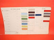 1957 FORD THUNDERBIRD FAIRLANE SUNLINER SKYLINER RANCHERO VICTORIA PAINT CHIPS
