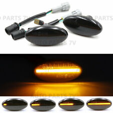 Pair Smoke Lens Sequential LED Amber Dynamic Side Marker Signal Light for Mazda