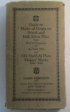 British & Irish Silver Assay Office Marks 1544-1963 Book by Fred Bradbury 11 Ed