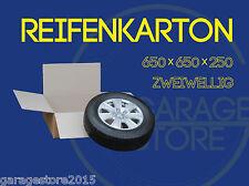 """4x Räder Karton Reifenkarton 2-wellig  650x650x250 für 15"""" 16 """"17 """"18"""" 19 ZOLL"""