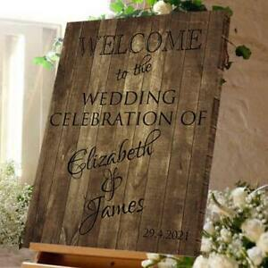 Personalised Welcome To The Wedding Celebration Sign - Wedding Reception Decor