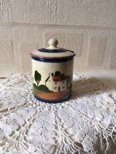 Watcombe Pottery Motto Ware Preserve Jar Mid 20th Century Torquay