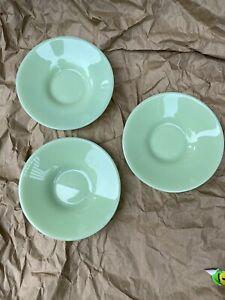 Set Of 3 Jadeite Plates