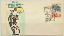 Brazil Sc. C89 World Basketball Championships on 1959 FDC Special Cancellation