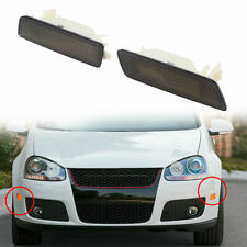 Pair Plastic Housing Clear Bumper Side Marker Lights Cover Grey For 2006-2009 VW