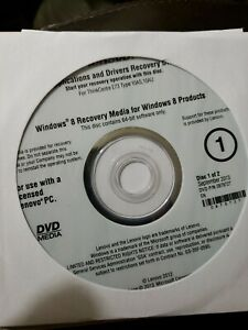 Lenovo Operating System Recovery Disc Windows 8  recovery media drivers DVD