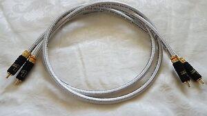 Van Damme Silver Series Lo-Cap 55pF Interconnect Cable WBT-0144 Locking RCA Plug