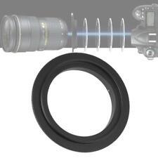 Black Metal Lens Mount Macro Reverse Adapter Ring for Nikon F Mount Camera 55mm