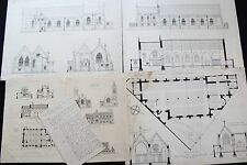 19th century architectural plans Emmanuel Church - St. Thomas Exeter England