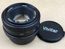 Vivitar 50mm f/1.9 Manual Focus Pentax K Mount Lens - Nice Glass