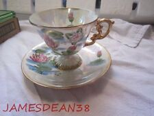 VINTAGE NORLEANS JULY WATER LILY CUP & SAUCER WITH LABEL