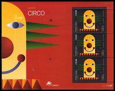 """AZORES 463a - Europa Circus """"Clown"""" Souvenir Sheet (pa42054)"""