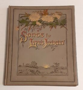 Vintage Religious Illustrated Hymn Song Book - Songs For Life's Journey