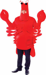 Unisex Monster Sea Animal Fancy Dress Stag Night Party Lobster Crab Costume UK