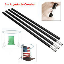 10FT/3m Adjustable Background Photo Studio Backdrop Support Stand Hang Crossbar