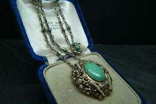 Best Victorian Austro Hungarian Silver Gilt Turquoise & Seed Pearl Necklace