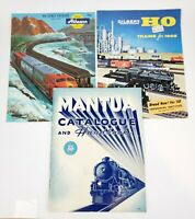 Lot Of (3) Vintage HO Scale Train Catalogs Books - Mantua, Athearn, Gilbert