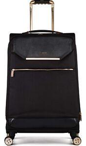 Ted Baker Albany 4-wheeled Large Suitcase Luggage Black/Rose Gold