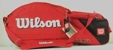 Wilson Tour Padded Red Six-Pack Tennis Bag - Two Racket Compartments + Shoe Zip