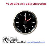Marine Bateau Horloge Jauge Noir #JYV00459# Chrome Bezel
