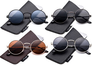 John Lennon Polarized Sunglasses Round Vintage Hippie Retro Circular Sunglasses