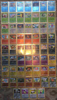 Pokemon Sword & Shield Reverse Holo Commons 60 Card Lot NM In Sleeves