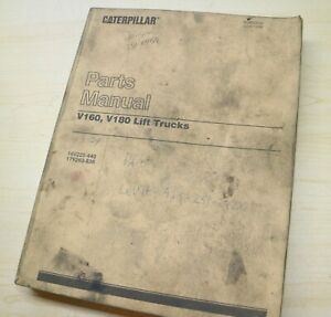 Caterpillar V160 V180 Forklift Parts Manual Book catalog spare list CAT 1984 OEM