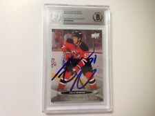 Adam Henrique Signed UD Upper Deck Young Guns Card RC Beckett BAS BGS c