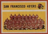 1960 Topps #122 San Francisco 49ers Team EX-EXMINT MARKED Joe Perry FREE S/H