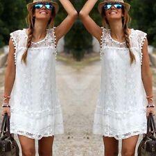 Womens Mini Summer Boho Beach Sun Dress Kaftan Playsuit Ladies Summerwear Bikini