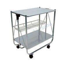 Servierwagen | Rollwagen | Küchenwagen | grau lackierter Stahl