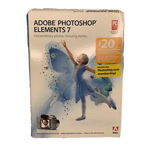 Adobe Photoshop Elements 7 Software Edit Enhance Create Share For PC With Code