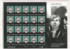 Andy Warhol 2001 Full Pane USPS Stamps 37 Cent MINT Sealed Fast Free Shipping