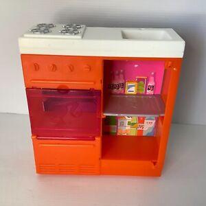 Barbie Doll Furniture Kitchen Set Sink Oven Cupboard