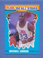 1990-91 Fleer MICHAEL JORDAN Sticker Chicago Bulls #5 NM-MT & Well Centered RARE