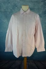 AZZARO Chemise Homme Taille 17 / 43 / XL - Rose pastel - Manches courtes