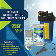 "10"" Big Blue Whole House System with 4.5x10"" Carbon Block Water Filter"