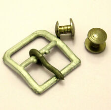 WW2 chin strap aluminum buckle and metal studs-pins liner German helmet.Replica!