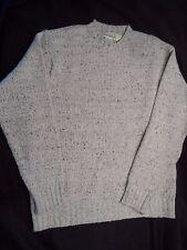 Ireland's Eye Knitwear Wool Cashmere Blend Crewneck Sweater -- Mens L -- EUC!
