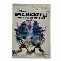 Disney Epic Mickey 2: The Power of Two (Nintendo Wii 2012) Complete w/Manual CIB
