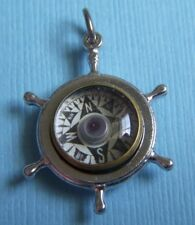 Vintage movable compass His Lordship Production HLP nautical sterling charm